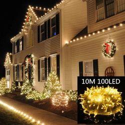 Christmas Lights 10M Led String Fairy Light 8 Modes Christmas Lights for Party Holiday Lights Christmas Lights Indoor Navidad
