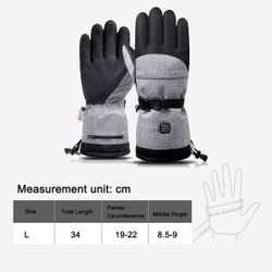 Winter Electric Heated Gloves Windproof Waterproof Cycling Warm Heating Skiing Gloves 3 Gears Temperature Battery Heated Gloves