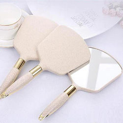DHL HD Handle Makeup Mirror Handheld Beauty Handle Maquillaje Espelho Portable High-end Compact Mirrors Makeup Vanity