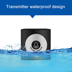 2.4G Wireless Intercom Doorbell Home Wireless Voice Intercom Doorbell Waterproof Wireless Intercom Doorbell Support Two-Way Inte