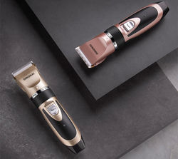 Dog Grooming Clipper Hair Scissor Professional Electrical Trimmer Rechargeable Grooming Tool Low-noise Pet Haircut Set