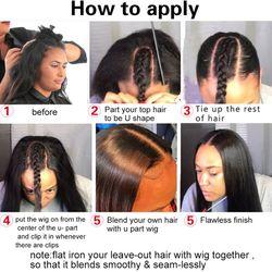 Levita Brazilian hair wigs kinky straight wig human hair wigs cheap u part wig human hair wigs for women non-remy 180% Density