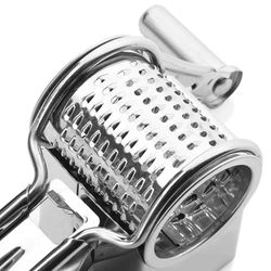 Cheese Grater Stainless Steel Cheese Grater Manual Rotating Cheese Grater Kitchen Tools, 2PCS