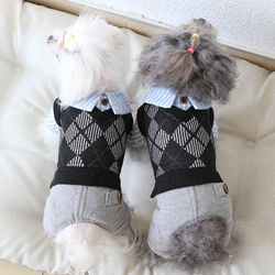 Dog Clothes Male Cotton Cat Dog Jumpsuit Jacket Coat Two-piece Vest Clothing For Dogs Cotton Winter Products Puppy Chihuahua