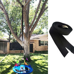 Outdoor Hammock Tree Swing Straps Hanging Kit 10FT 2 Heavy Duty S Hooks for Courtyard Garden Entertainment Game Playing