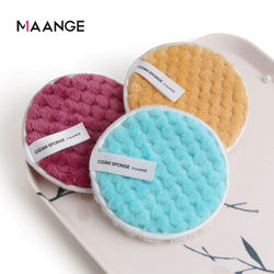 MAANGE 3PCS Microfiber Makeup Remover Towel Reusable Cleansing Cloth Pads Face Cleaner Plush Puff Foundation Skin Care Tool