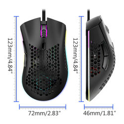 7200DPI 6 Key Light Weitht Hollowed Shell RGB Gaming Mouse E-sports Mice for FPS