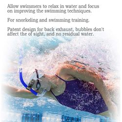 Silicone Breathing Tube Front Anti-Choking Water Breathing Tube Swimming Training Snorkeling Special