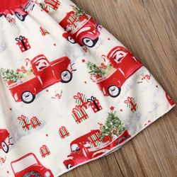 Christmas Newborn Baby Girl Taxi Festival Bowknot Party Tutu Dress Kids Xmas Outfits