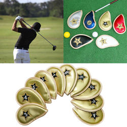 10pcs Golf Club Iron Head Cover Protection Headcover for