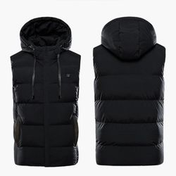 Unisex Heated Jackets Heat Coat USB Electric Thermal Clothing coat 7 Places Heating Hooded Jackets Winter Outdoor Warm Clothing