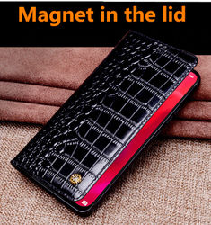 Luxury Business Genuine Leather Ultra Slim Phone Cover For OPPO Find X2 Pro/OPPO Find X2/OPPO Find X2 Lite Magnetic Flip Case