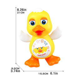 Electric Dance Lighting Duck Educational Toy Interactive Dancing Little Yellow Duck Toys Musical Interactive Kids Gifts