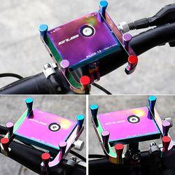 GUB Aluminum Alloy Bicycle Phone Holder 360 Degree Rotation Cycling Phone Stand Anti-Slip Bike Phone Mount Telefoonhouder Fiets