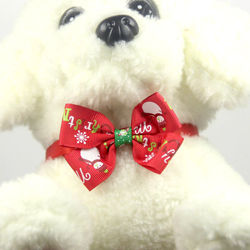 Pet Dog Cat Collars Bow Tie For Dogs Cats Christmas Bowknot For Puppy Kittens Xmas Decoration Ornament Pet Accessories