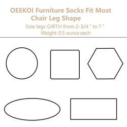 24 PCS Furniture Leg Socks Knitted Furniture Socks Chair Leg Floor Protectors for Avoid Scratches Furniture Pads Set
