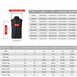 4 Areas Heating Vest Outdoor Electric Heated Jacket USB Winter Thermal Clothes Camping Hiking Warm Skiing Heating Jacket