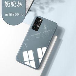 Original Liquid Tempered Glass Case For HuaWei Honor 30 Pro 30S P30 P40 Pro Nova 5 Nova 6 Pro Metal Lens Protection Glass Cover