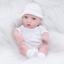 28cm Full Body Silicone Rebirth Baby Children's Toy Gift Doll Simulation Baby Can Bathe Silicone Doll like Newborn Doll