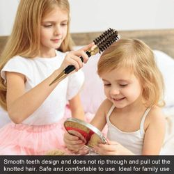 4-piece curly hair roller comb negative ion antistatic large hair brush professional styling salon styling hair comb