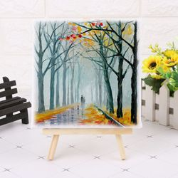 Mini Canvas And Natural Wood Easel Set For Art Painting Drawing Craft Wedding Supply5