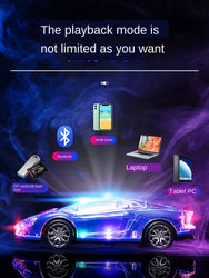 Bluetooth Speaker with Sports Car Shape Wireless Stereo Can Be Plugged Into Usb Disk with Colorful Lights, Colorful Flash
