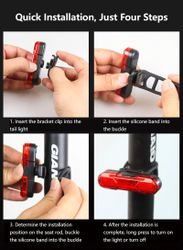 Bike Taillight Waterproof Riding Rear Light LED USB Chargeable Mountain Bike Cycling Light Tail-lamp Bicycle Light Cycling Lamp