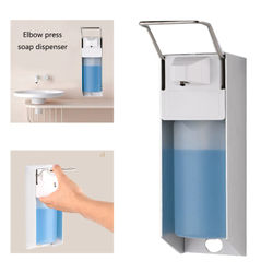 Wall-mounted Disinfectant Elbow Pressure Manual Soap Dispenser Drip 500ml/1000ml R9JF