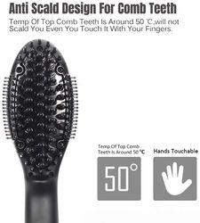 Anion straight hair comb LCD screen display CNC constant temperature electric splint ceramic hair straightener curler