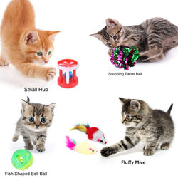 13Pcs Pet Set Collapsible Cat Tent Cat Toy Fun Channel Funny Cat Stick Pet Kitten Dog Cat Interactive Play Non-toxic Supplie