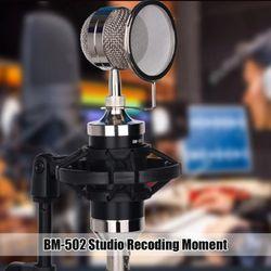 Mini Condenser Microphone USB Computer Studio Microphone For PC Microphone For Phone Karaoke YouTube Microphone With Sound Card