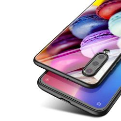 Macaron Cake For Xiaomi Mi Note 10 Ultra 5G 9 SE 8 A3 A2 A1 6X Poco M2 Pro Play F1 Lite 5G Bright Black Phone Case