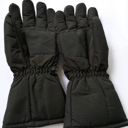 1 Pair Waterproof Winter Gloves Cycling Skiing Warm Gloves Touch Screen Electric Heated Gloves for Men Women With 2 Battery Box