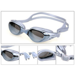 Mirrored Swim Goggles Silicone Seal Swimming Goggles Diving Glasses UV Protection Anti-fog Anti-shatter Waterproof