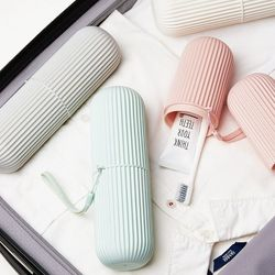 Toothbrush Home Creative Cup Travel Portable Toothbrush Bucket Simple Modern Mouthwash Cup Cover with Covered Toothbrush Box