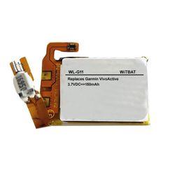TTVXO for 150 mAh Smartwatch Garmin VivoActive Battery 360-00033-00