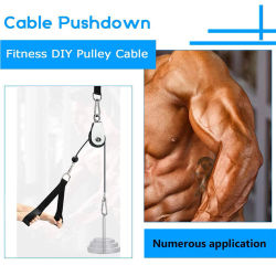 Fitness DIY Gym Pulley Cable Machine Attachment System Loading Pin Lifting Workout Arm Biceps Triceps Hand Training Equipment