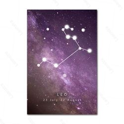 Twelve Constellation Modern Canvas Painting Astrology Creative Poster HD Print Nordic Home Decor Living Room Bedroom Wall Art