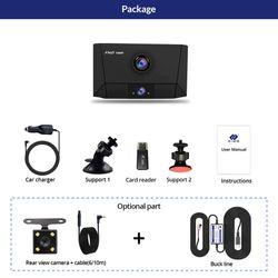 E-ACE B13 Car Dvr 4.0 Inch Dash Cam 3 Cameras Lens Auto Registrar FHD 1080P Video Recorder Dual Lens DVRs Night vision Dashcam