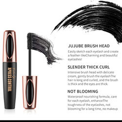 Waterproof 4D Makeup Eyelash Mascara Eyelash Makeup Silk Fiber Lash Extension Lash Mascara Tubes Korean Cosmetics