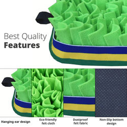 Dog Sniff Training Mat Smell Pad Food Slow Feeding Release Stress Pet Blanket Relieve Stress Nosework Interactive Toys Pet Toys