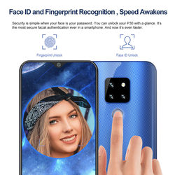 CUBOT P30 Cellphones Fingerprint Unlocked Smartphone Android 9.0 Pie 4G Face ID AI Rear Triple Camera Touch Mobile Phone