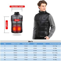 11 Places Heat Clothes Intelligent Temperature Control Electric Heating Vest Heating Vest Full Body Charging Asian Size S-4XL