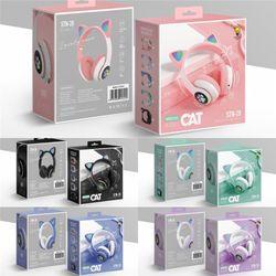 New Arrivals STN28 fashion wireless Bluetooth cat ear headphone with mic LED light HiFi music headset