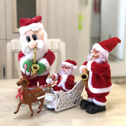 Funny Christmas Santa Claus Electric Climb Ladder Decoration Christmas Tree Hanging Ornaments New Year Children Kids Gifts
