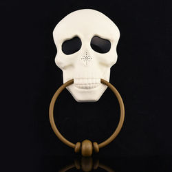 Halloween Horror Doorbell Skull Ghostly with Lights Up Eyeball and Talking Scary Sounds Props Tricky Toy Haunted House
