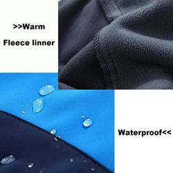 Waterproof Hiking Suit Men Windproof Warm Fleece Jacket And Pants Outdoor Trekking Camping Hooded Softshell Jackets Ski Trousers