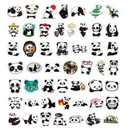 10/50PCS Cute Panda Cartoon Stickers DIY Skateboard Fridge Phone Guitar Motorcycle Laptop Luggage Animal Sticker