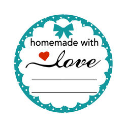 500Pcs/Roll Home Made With Love Stickers Seal Labels For Family Hand Made Gift Decor Sticker Labels For Wedding Envelope Seals