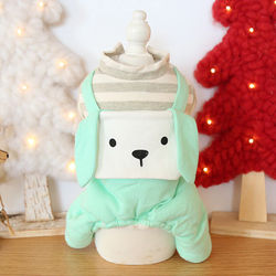 Dog Clothes Long Ears Striped Cotton Cat Dog Jumpsuit Jacket Coat PET Clothing For Dogs Pet Winter Products Puppy Chihuahua